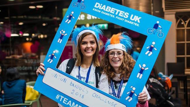 Diabetes UK fundraising