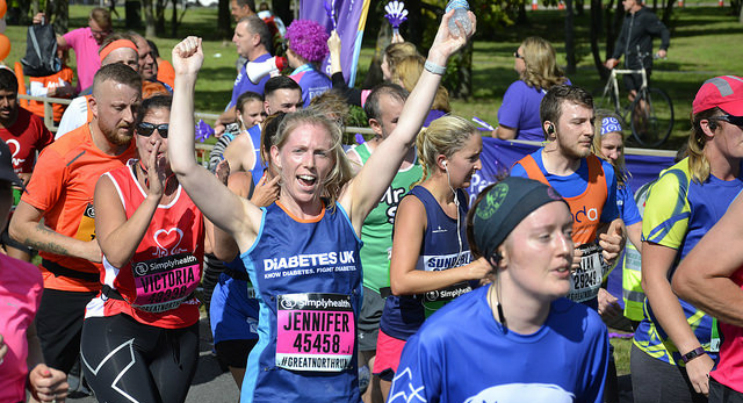 This image is a Diabetes UK runner