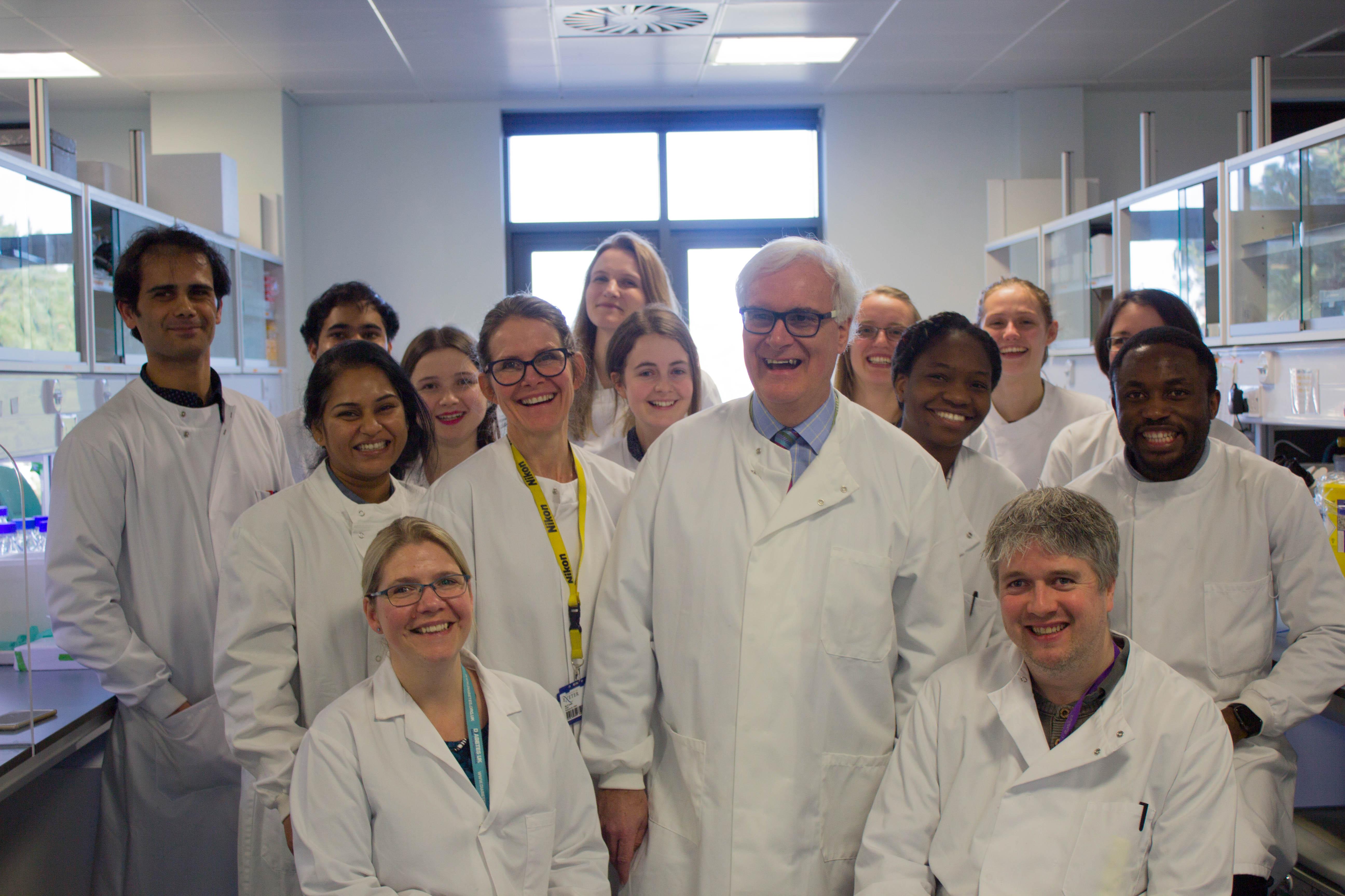 Professor Morgan and team