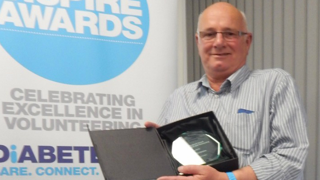 Spencer Wimbledon receives Inspire Award