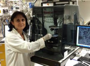 Dr Nina Petrova in the lab