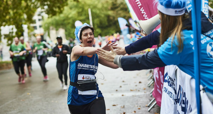 This is an image of a Diabetes UK runner