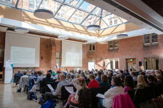 Photo of inside Riddel Hall, Belfast at 2017 conference
