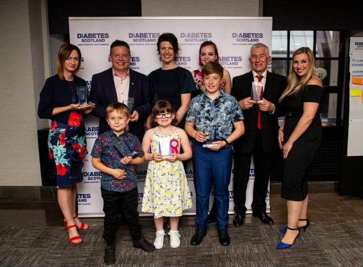 Winners of Diabetes Scotland Inspire Awards 2019