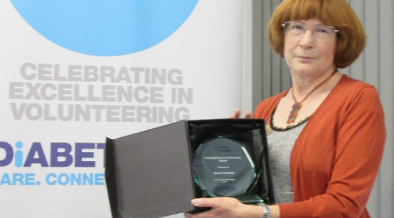 Sandra Tweddell receiving her 2017 Inspire Award for Campaigning and Influencing