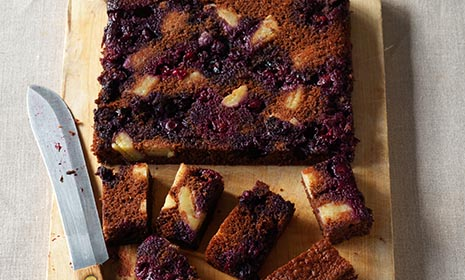 Fruity chocolate tray bake