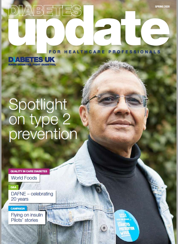 Front cover of spring issue of Update