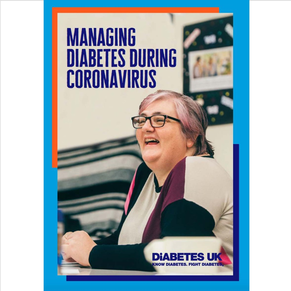 The front cover of the managing diabetes during coronavirus leaflet