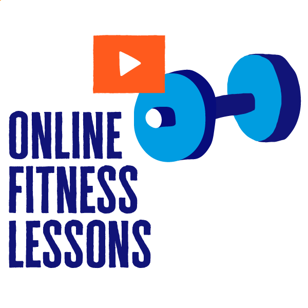 An icon of online fitness lessons to show how to get active