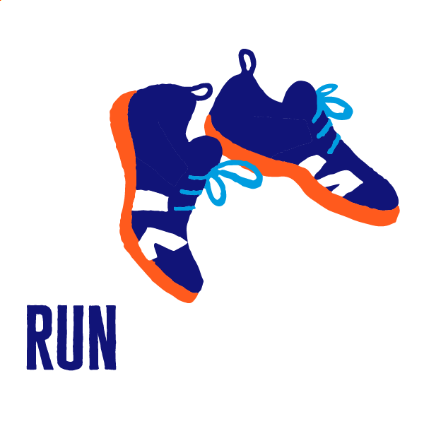 An icon of running to show how to get active