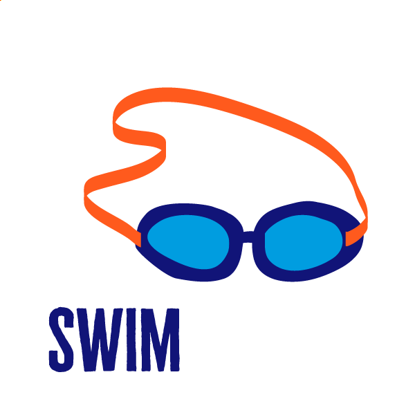 An icon of swimming to show how to get active