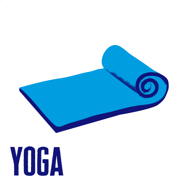 An icon of a yoga mat to show how to get active