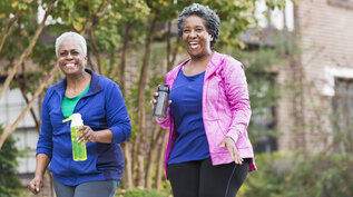 Two ladies enjoying their daily steps as part of Diabetes UK's One Million Step Challenge 2021