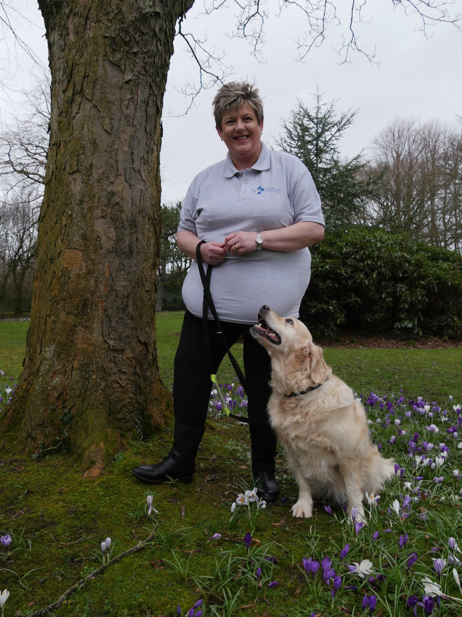 Wendy Smith with assistance dog Echo