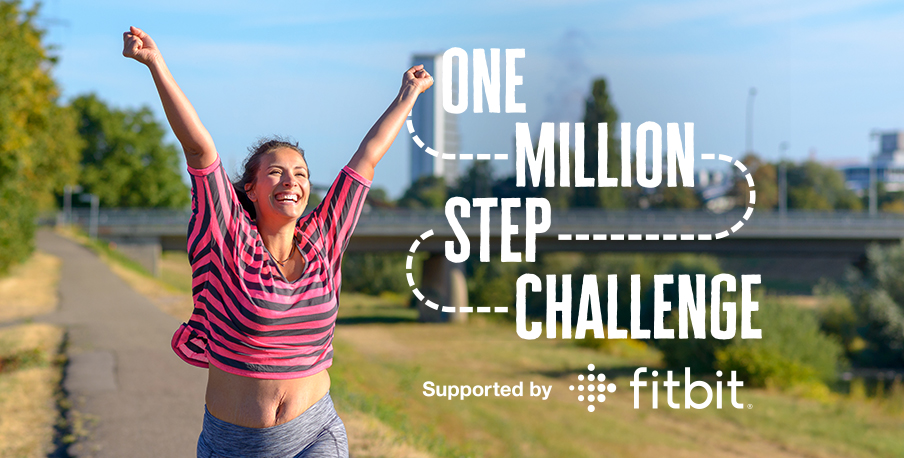 A lady smiling as she takes on the One Million Step Challenge