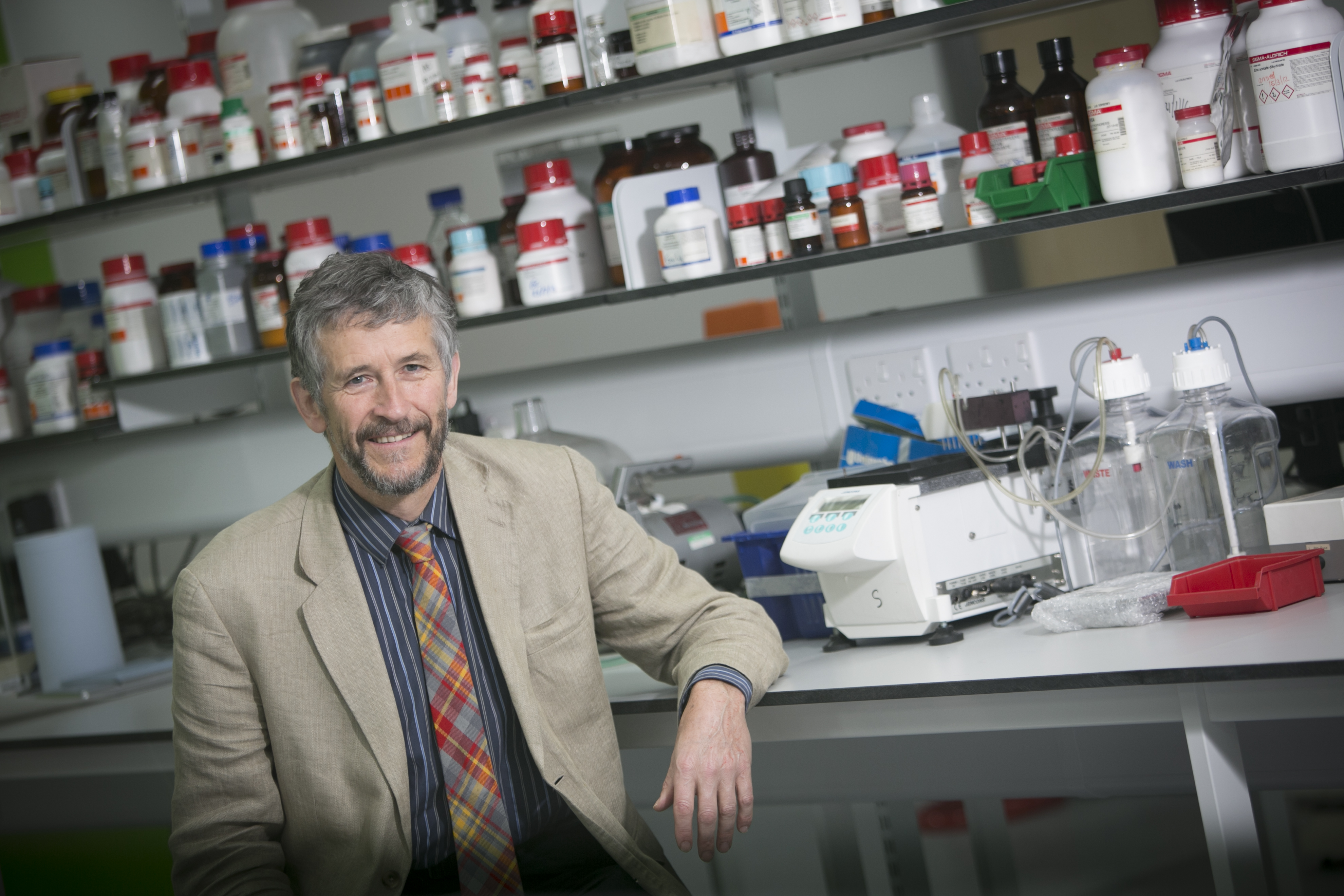 Prof Mike Lean in a research lab space
