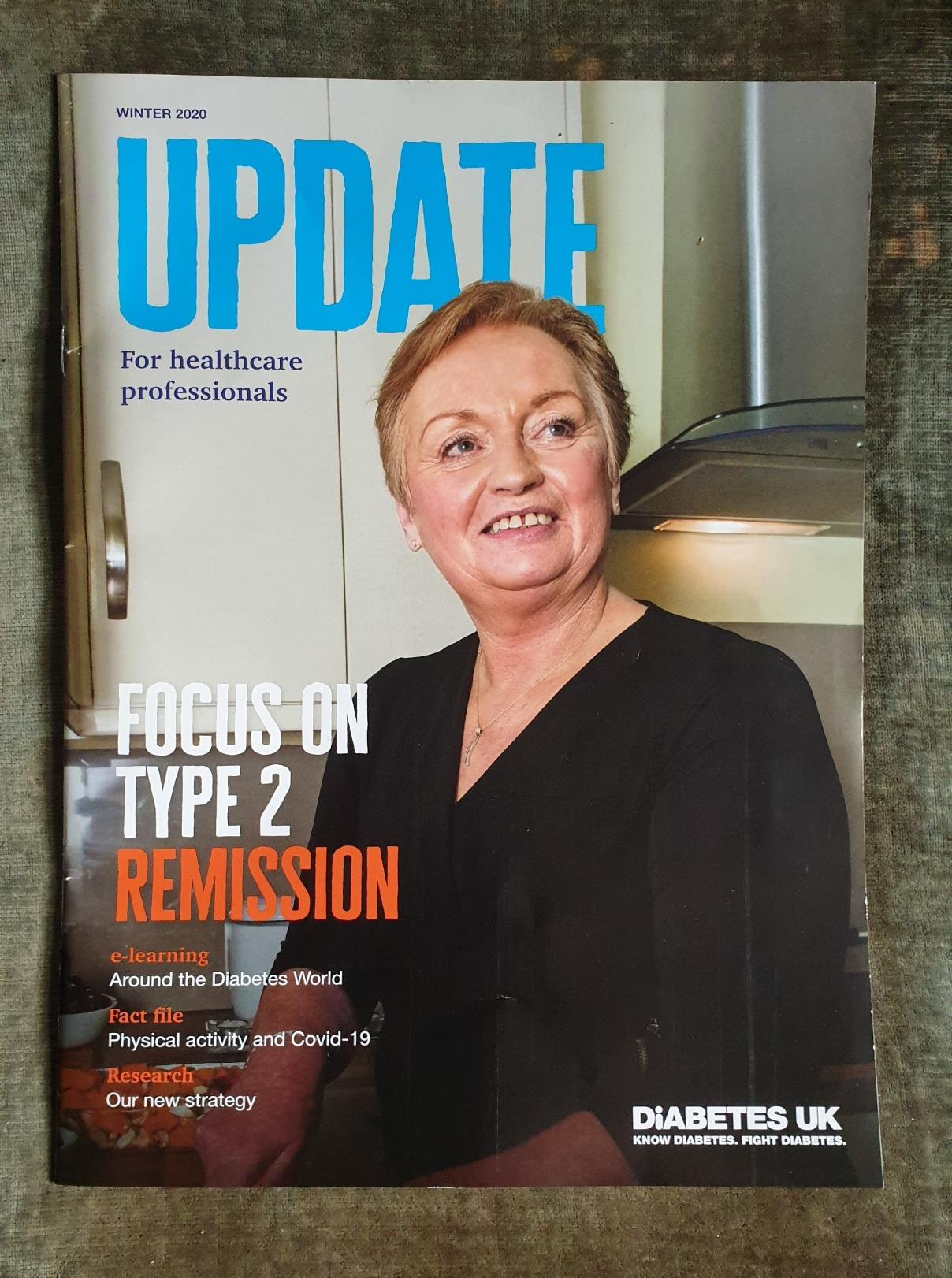 Isobel Murray on Update front cover