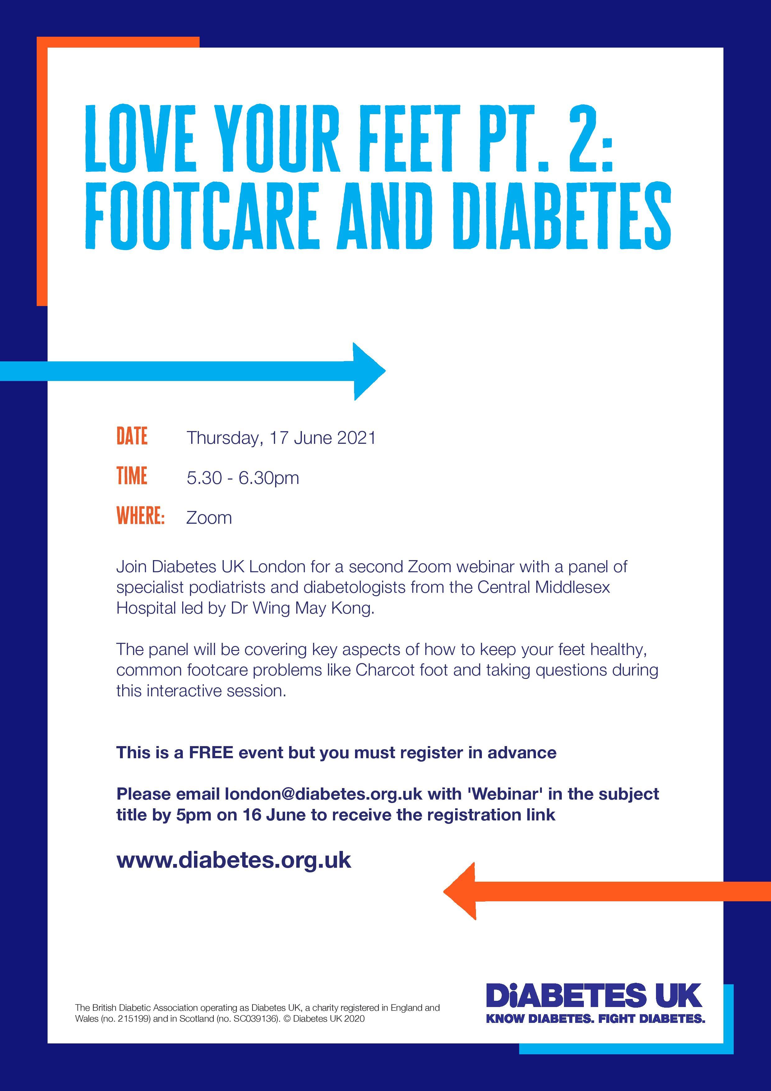 Details of the foot webinar