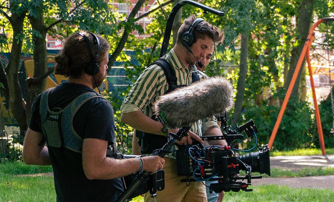 behind the scenes shot
