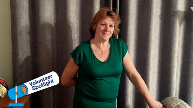 A volunteer Angie Whitmarsh