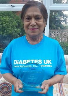 Ila Shah of Bolton with her 2020 Inspire Award