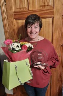 Dedicated dietitian Lesley Hamilton wins Unsung Hero Inspire Award