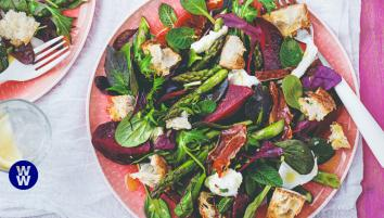 Parma ham, beetroot & mozzarella salad