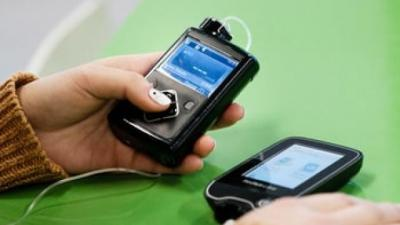 A person using diabetes technology