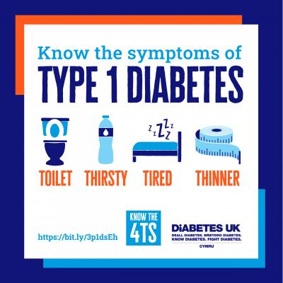 Know the symptoms of type 1 diabetes: Toilet, Thirsty, Tired, Thinner