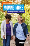 Two ladies with diabetes walking together and enjoying exercising