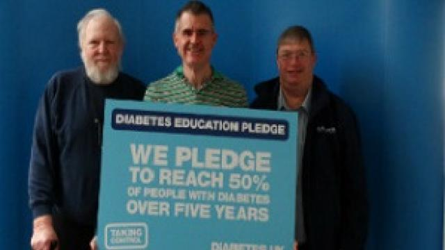 Diabetes UK South East volunteers smiling