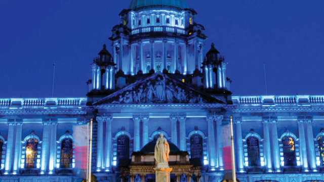 NI Connect cover including City Hall blue