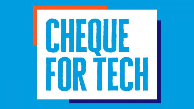 Cheque for tech