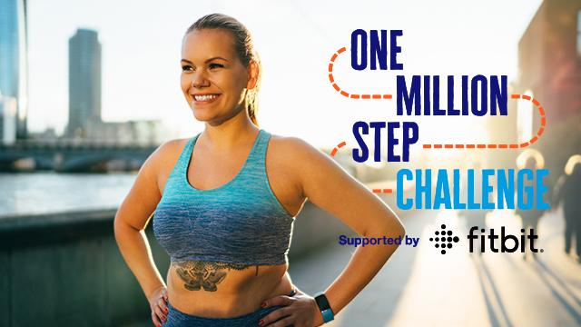 A lady smiling as she prepares to take on the One Million Step Challenge