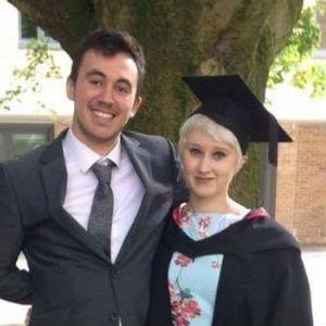 Sian at her graduation