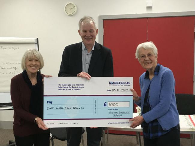 Exeter group cheque presentation