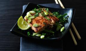 Asian salmon fillets