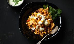 Channa chaat (mixed bean salad)