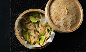 Chinese steamed trout