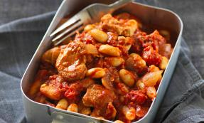 Cowboy-style pork and beans