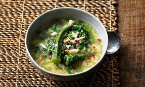 Callaloo (crab and spinach soup)