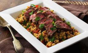 Fillet of lamb with minted couscous