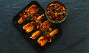 Galician stew with roasted butternut squash