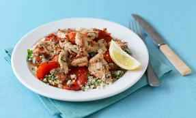 Grilled lemon and chilli chicken with couscous