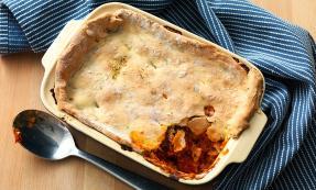 Herbed lentil and Parmesan pie