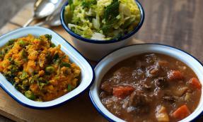 Irish stew and colcannon