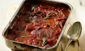 Italian-style braised lamb steaks