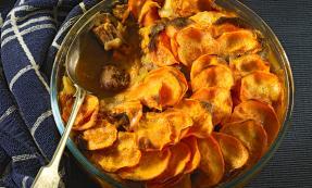 Lamb and sweet potato hotpot