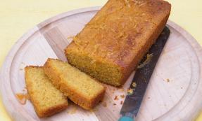 Sticky lemon polenta cake