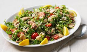 Marinated mackerel salad